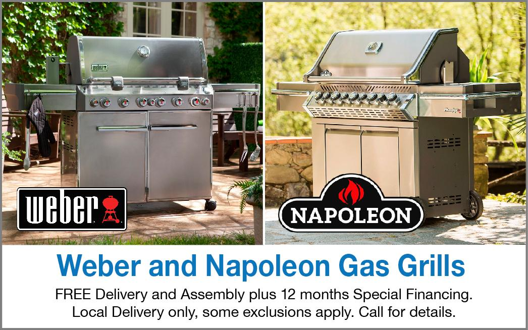 Napoleon and Weber gas grills