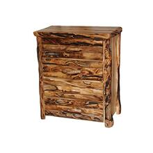 4 Drawer Chest Log Front Wild Panel Gnarly Log