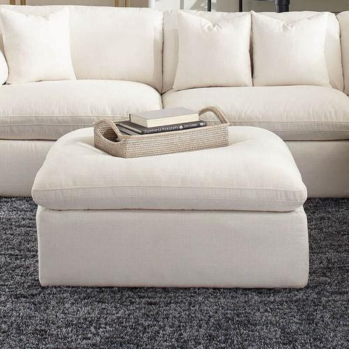 Packages - Off White Polyester 5 Piece Sectional