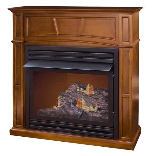 WORLD HEATER GFD3281E The Savannah Remote Controlled Vent Free Gas Fireplace, 30,000 Btu