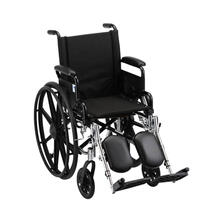 "16"" Lightweight Wheelchair w/ Desk Arms & Elevating Leg Rests"