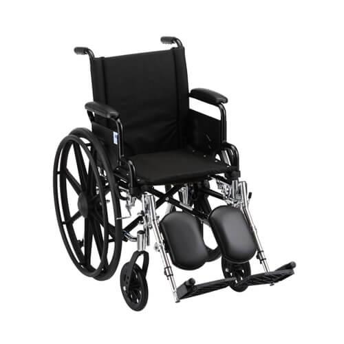 "16"" Lightweight Wheelchair w/ Desk Arms & Elevating Leg Rests"
