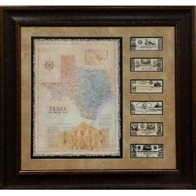 TEXAS MAP MONEY