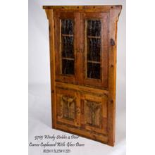 Windy Stables 4 Door Corner Cupboard With Glass Doors
