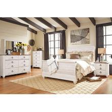 5 PC Willowton Bedroom Set Queen Bed, Dresser/Mirror, Nightstand, & Chest