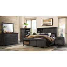 See Details - Scott Dark King Set (Dresser, Mirror, Door Chest, King Storage Bed)