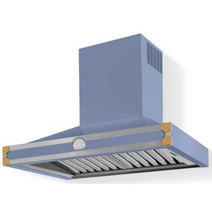 Lacornue Cornufe - Provence Blue Albertine 90 Hood with Polished Brass Accents