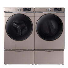 SAMSUNG 4.5 cu. ft. Front Load Washer with Steam & 7.5 cu. ft. Electric Dryer with Steam Sanitize  - Open Box