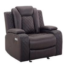 Dyer Glider Recliner in Dayton Chocolate