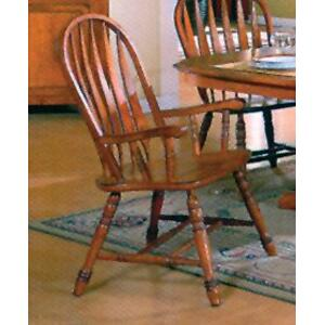 E.C.I. Solid Oak Arrowback Arm Chair