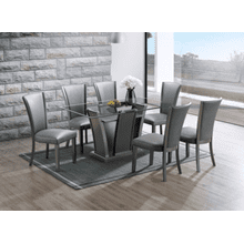 Platina Glitter Gray 7pc Dining Room Set