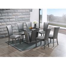See Details - Platina Glitter Gray 7pc Dining Room Set