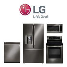 LG 4 Piece Black Stainless Kitchen Package. Price Valid Thru 8/12/20.
