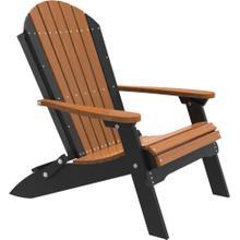 Folding Adirondack Chair Premium Antique Mahogany and Black