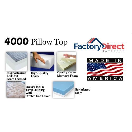 Factory Direct Mattress - 4000 - Pillow Top