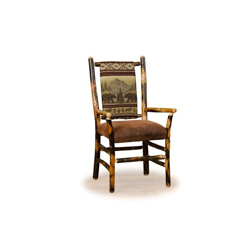 Hickory Low Back Arm Chair