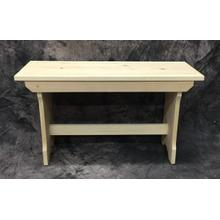 See Details - Maine Made Trestle Bench 30 30W X 17H X 11D Pine Unfinished