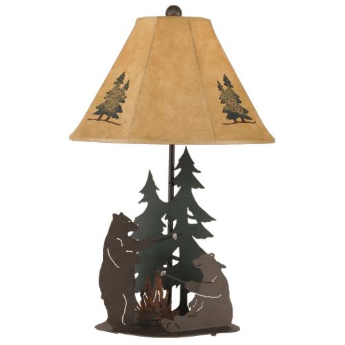 Iron Bears Roasting Marshmallows With Night Light