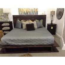 View Product - Exotic King Platform Bed (One of a Kind Piece, Similar pieces may vary in Finish)