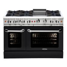 "Culinarian 48"" Gas Manual Clean Range (Black)"