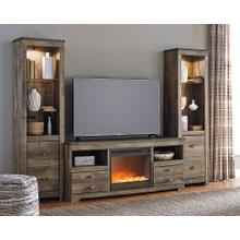 See Details - Trinell 4-piece Entertainment Center With Electric Fireplace