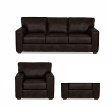 Sydney Java All Leather Sofa, Chair & Ottoman