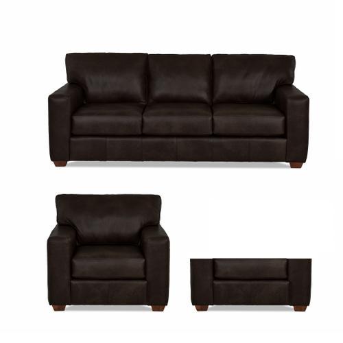 Sydney Java All Leather Sofa, Chair & Ottoman