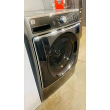 See Details - USED-  Silver Kenmore Front load Washer -- FLWASH27GY-U   SERIAL #26
