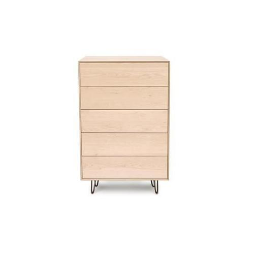 CANVAS 5 DRAWER WIDE WITH PUSH TO OPEN DRAWERS CHEST