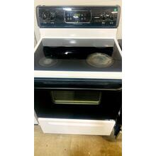 """See Details - USED- 30"""" Black and White Electric Stove- E30WHGLAS-U  SERIAL #59"""
