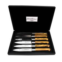 Sauveterre Stainless Steel Steak Knives 6-Piece Set with Solid Horn Handle