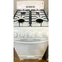 """USED- Hotpoint® 20"""" Front-Control Free-Standing Gas Range with Sealed Burners- G20WHSTV-U  SERIAL #27"""