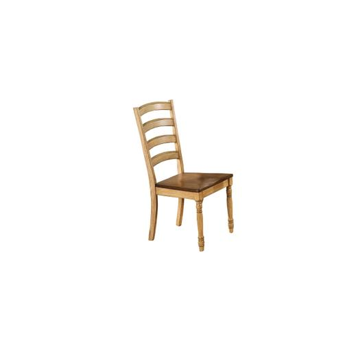 Ladder-back Side Chair, Almond/Wheat