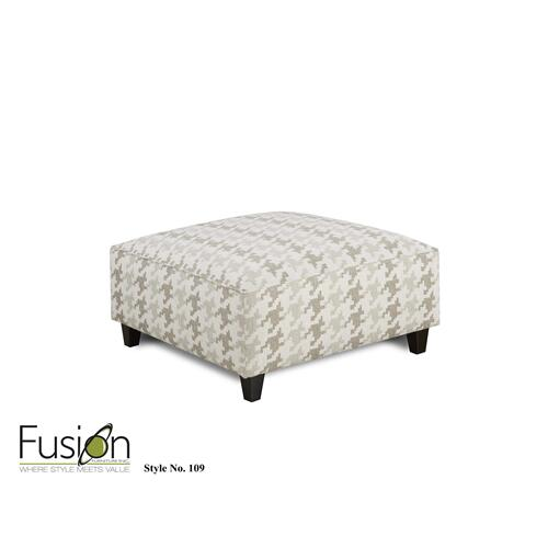Fusion Furniture - 109 BLASS BERBER COCKTAIL OTTOMAN