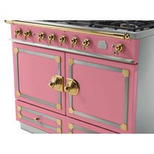CornuFe 110 Dual Fuel Range - Suzanne Kazler Couleurs - Liberte with Stainless Steel and Polished Brass Trim
