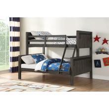 See Details - Twin-Full Barn Door Rustic Bunk Bed
