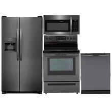 Frigidaire 4 Piece Black Stainless Appliances
