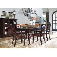 Porter - Rustic Brown - 7 Pc. - Rectangular Extension Table, 4 Side Chairs & 2 Arm Chairs