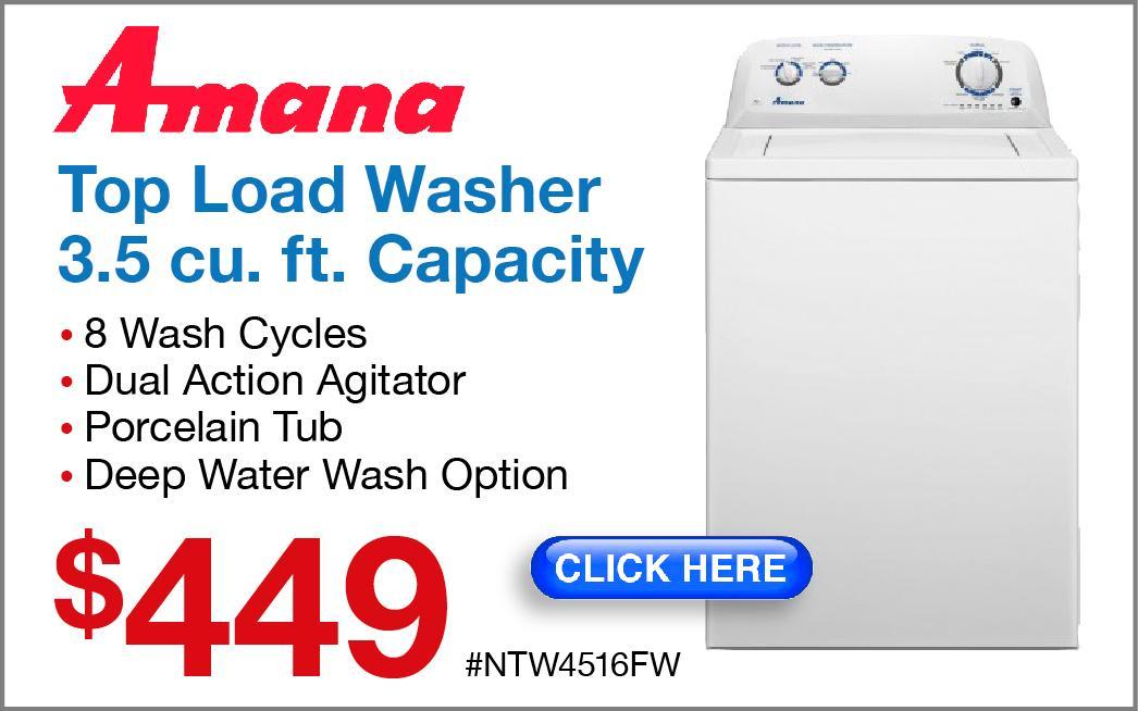 Amana Top-Load Washer NTW4516FW