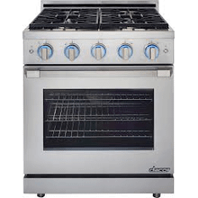 MOD # RNRP30GS/NG-FL FLR MOD 30 Inch Freestanding Gas Range with 1 SimmerSear Burner, 3 Standard Burners, 5.2 cu. ft. Convection Oven, 2 GlideRacks, 1 Chrome Rack, Infrared Ceramic Broiler, Illumina Knob Controls and Self-Cleaning Mode: Natural Gas, Stainless Steel