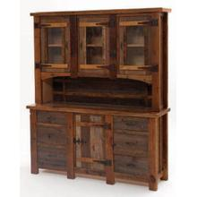 Heritage Silver Falls Hutch w/ 3 Glass Doors