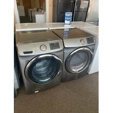 Refurbished Grey Electric Samsung Washer Dryer Set. Please call store if you would like additional pictures. This set carries our 6 month warranty, MANUFACTURER WARRANTY AND REBATES ARE NOT VALID (Sold only as a set)