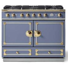 Provence Blue Cornufe 110 with Polished Brass Accents