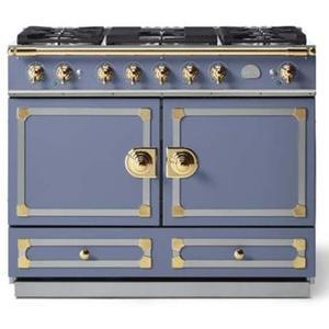 Lacornue Cornufe - Provence Blue Cornufe 110 with Polished Brass Accents