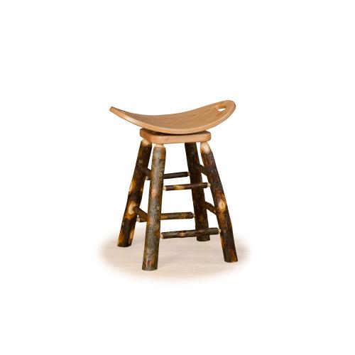 Brage Rustic Collection - Hickory Saddle Stool