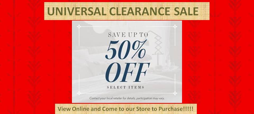 Universal Furniture Clearance