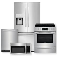 See Details - FRIGIDAIRE 26.8 Cu. Ft. French Door Refrigerator & 30'' Freestanding Electric Range 4 Piece Package-Open Box
