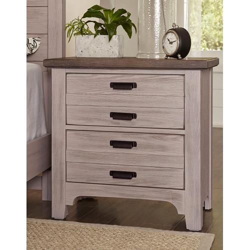 Bungalow 2 Drawer Nighstand in Dover Grey/Folkstone
