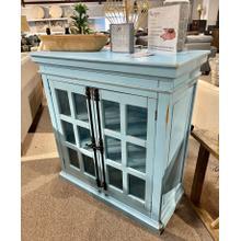 See Details - Antique Turquoise 12 Pane Door Console