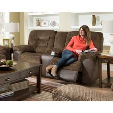 UNITED 50439BRLS Darcy Chocolate Reclining Console Loveseat
